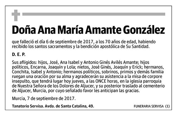Ana María Amante González