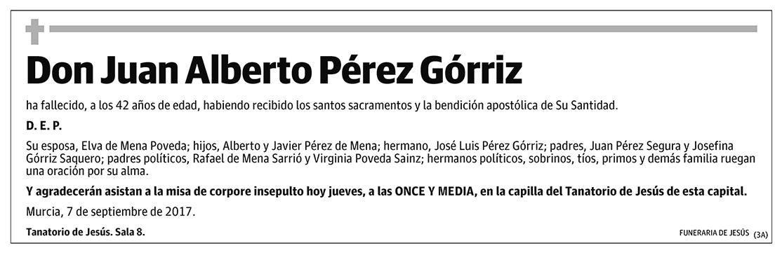 Juan Alberto Pérez Górriz