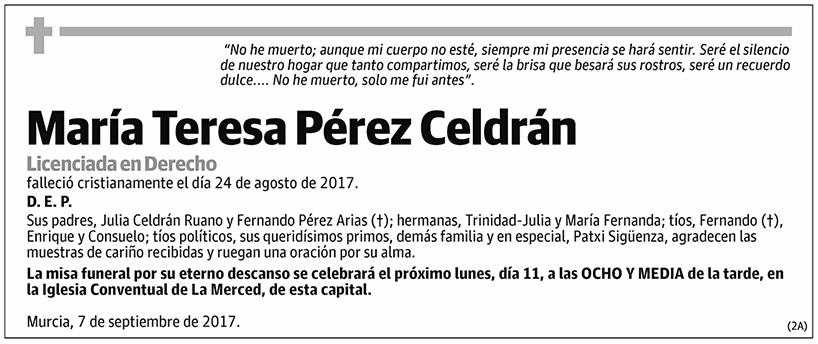 María Teresa Pérez Celdrán