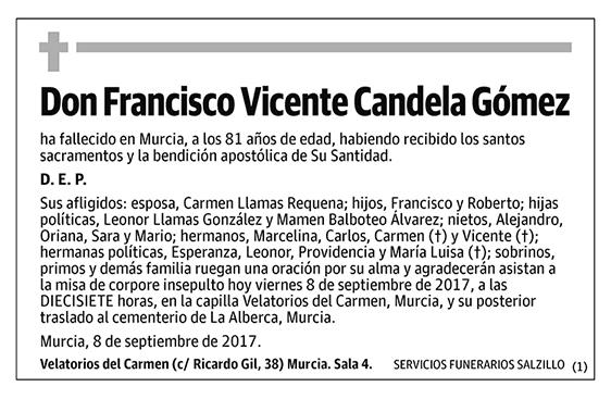 Francisco Vicente Candela Gómez