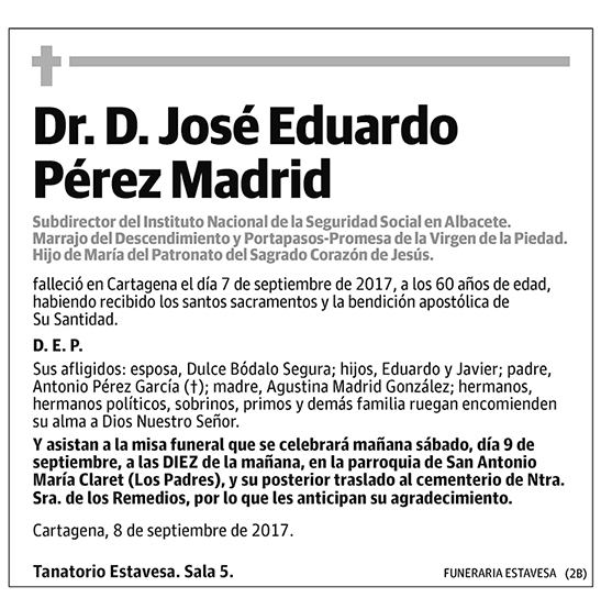 José Eduardo Pérez Madrid