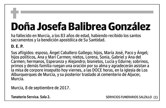 Josefa Balibrea González