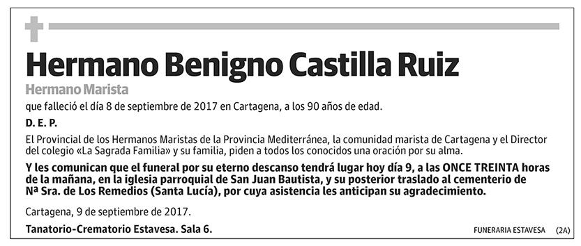 Hermano Benigno Castilla Ruiz
