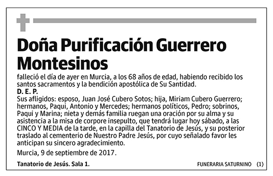 Purificación Guerrero Montesinos