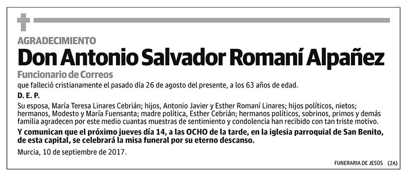 Antonio Salvador Romaní Alpañez