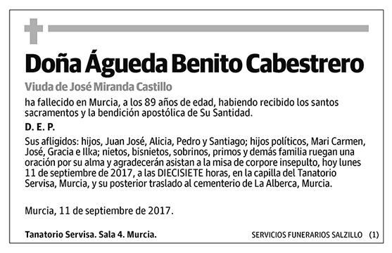 Águeda Benito Cabestrero