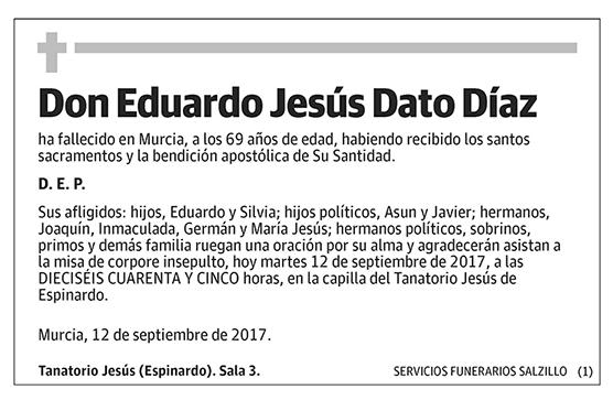 Eduardo Jesús Dato Díaz