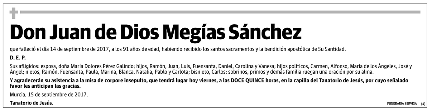 Juan de Dios Megías Sánchez