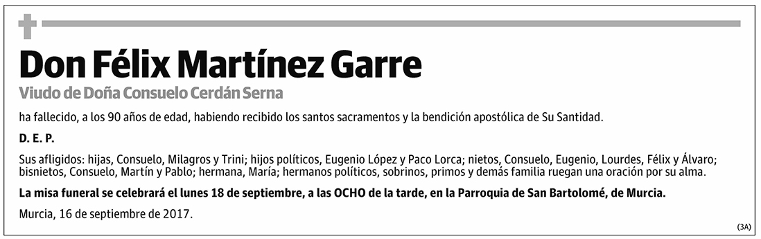 Félix Martínez Garre