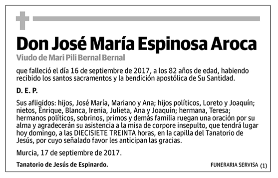 José María Espinosa Aroca