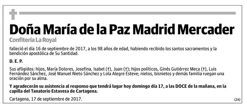 María de la Paz Madrid Mercader