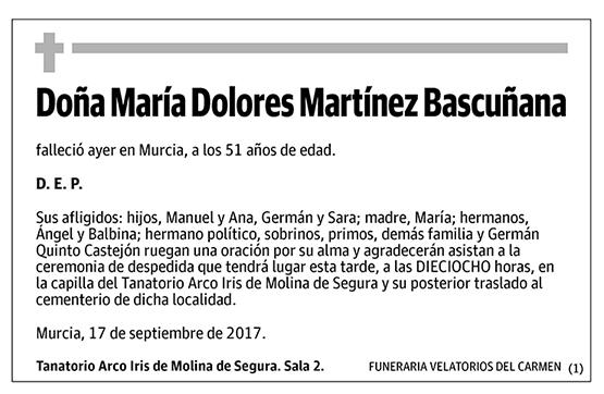 María Dolores Martínez Bascuñana