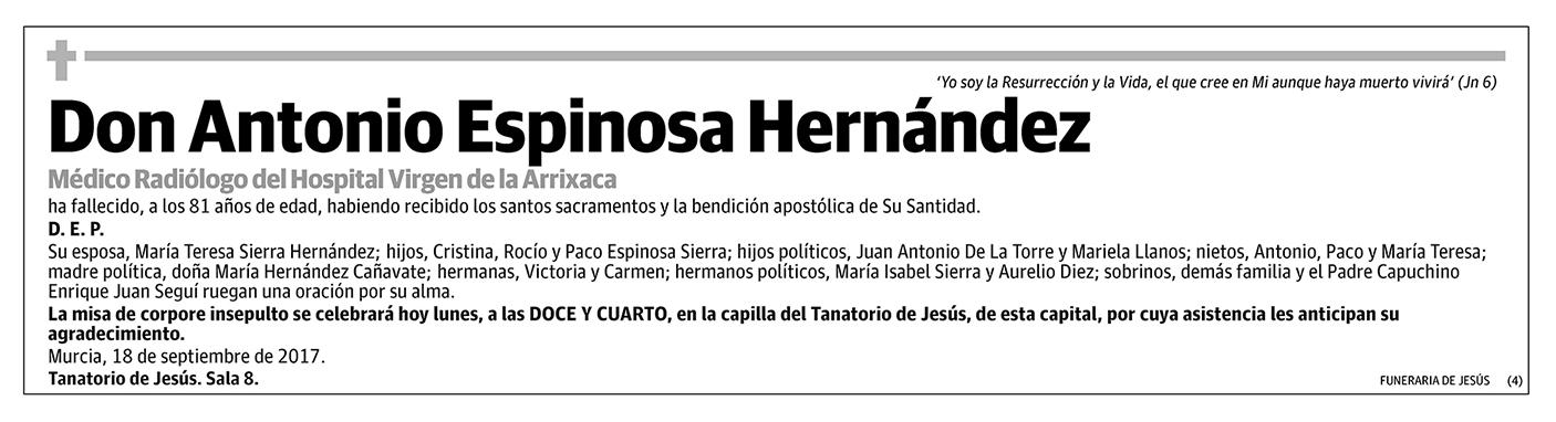 Antonio Espinosa Hernández