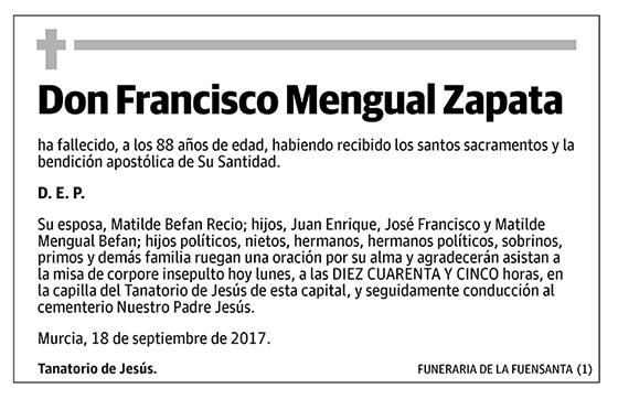 Francisco Mengual Zapata