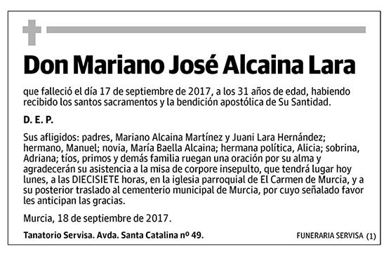 Mariano José Alcaina Lara
