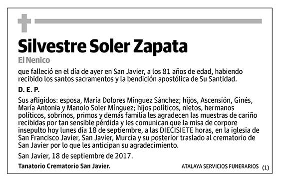 Silvestre Soler Zapata