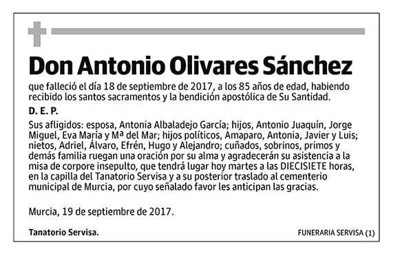 Antonio Olivares Sánchez