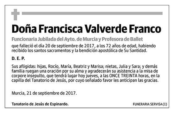Francisca Valverde Franco
