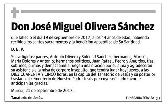 José Miguel Olivera Sánchez