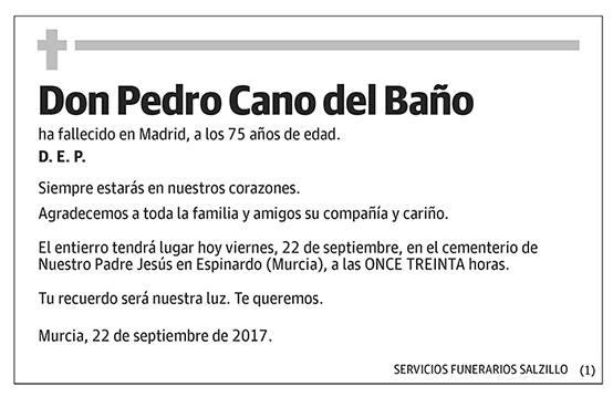 Pedro Cano del Baño