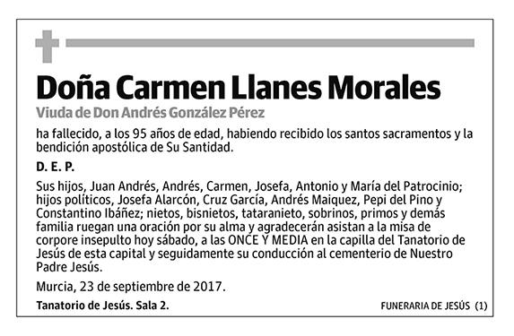 Carmen Llanes Morales