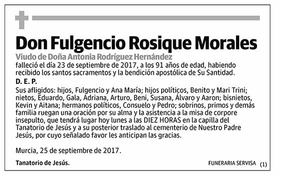 Fulgencio Rosique Morales