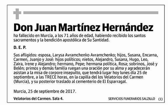 Juan Martínez Hernández