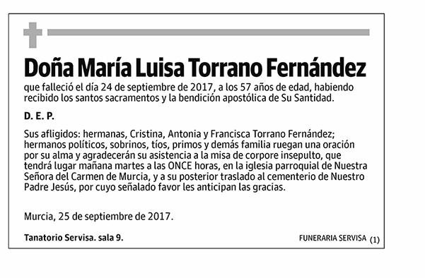 María Luisa Torrano Fernández