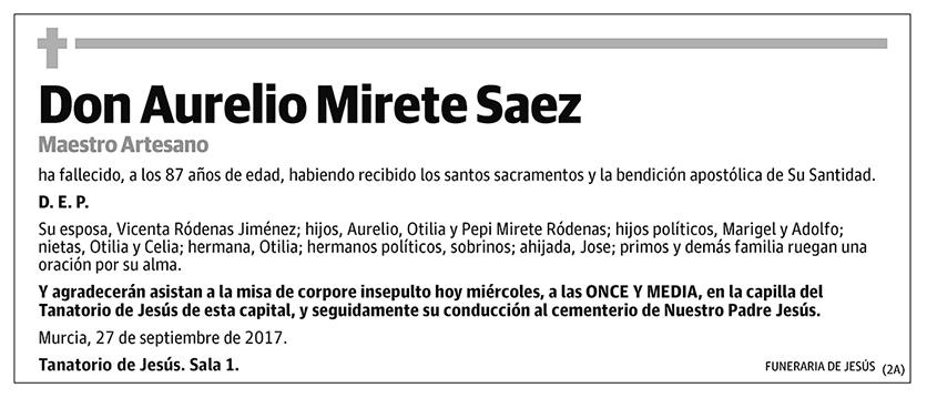 Aurelio Mirete Saez