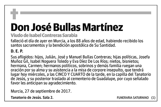 José Bullas Martínez