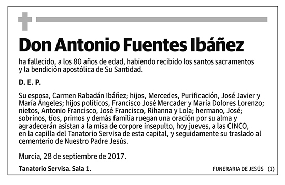 Antonio Fuentes Ibáñez