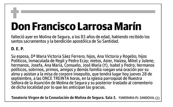 Francisco Larrosa Marín