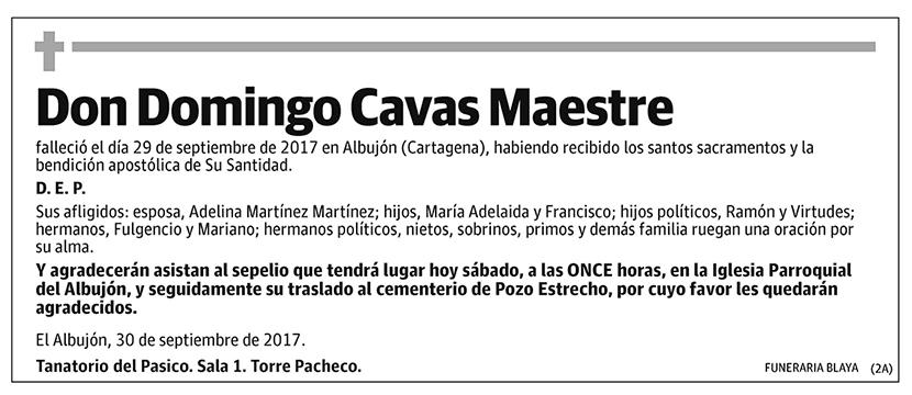 Domingo Cavas Maestre