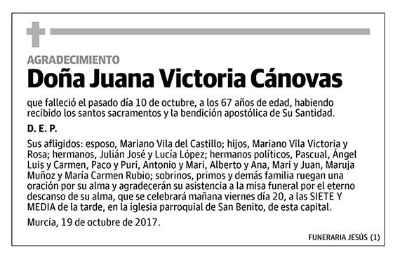 Juana Victoria Cánovas