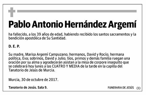 Pablo Antonio Hernández Argemí