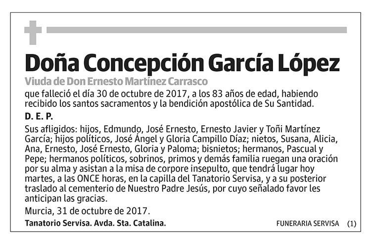 Concepción García López