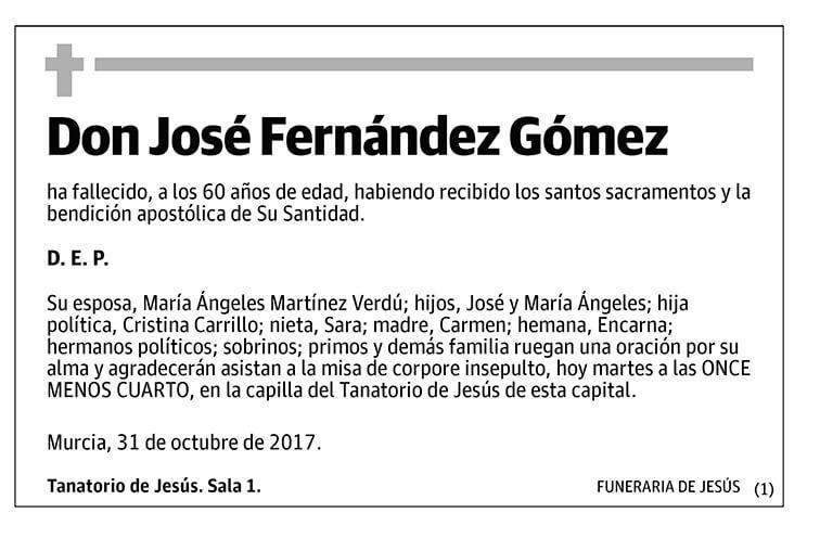 José Fernández Gómez