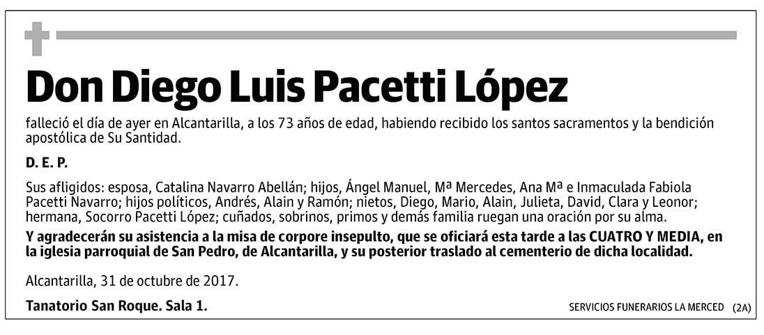 Diego Luis Pacetti López