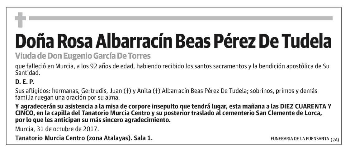 Rosa Albarracín Beas Pérez De Tudela