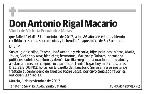 Antonio Rigal Macario