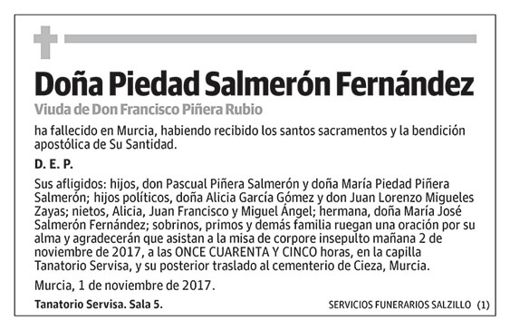 Piedad Salmerón Fernández