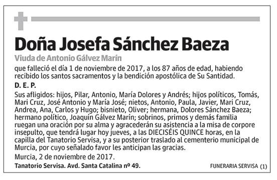 Josefa Sánchez Baeza
