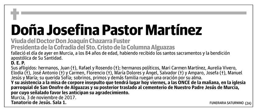 Josefina Pastor Martínez