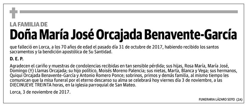 María José Orcajada Benavente-García