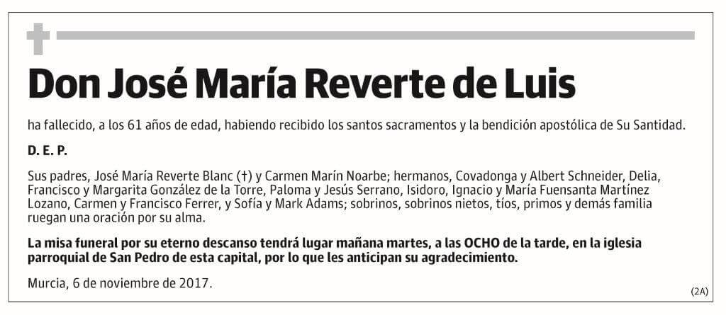 José María Reverte de Luis