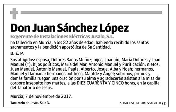 Juan Sánchez López