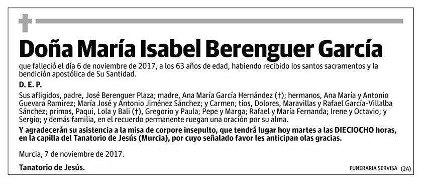 María Isabel Berenguer García
