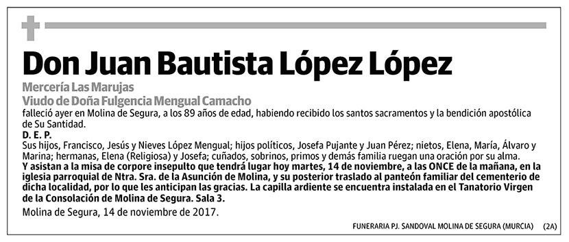 Juan Bautista López López