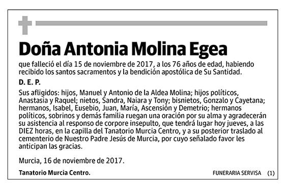 Antonia Molina Egea