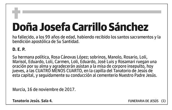 Josefa Carrillo Sánchez